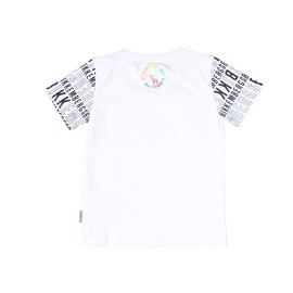 T-shirt  Bikkembergs bambino estiva mezza manica bianca 8 anni - 16 anni