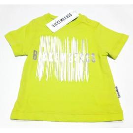 T-shirt  Bikkembergs bambino estiva mezza manica verde acido 12 mesi - 6 anni